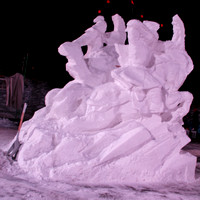 2013 Budweiser International Snow Sculpture Championships Day 2